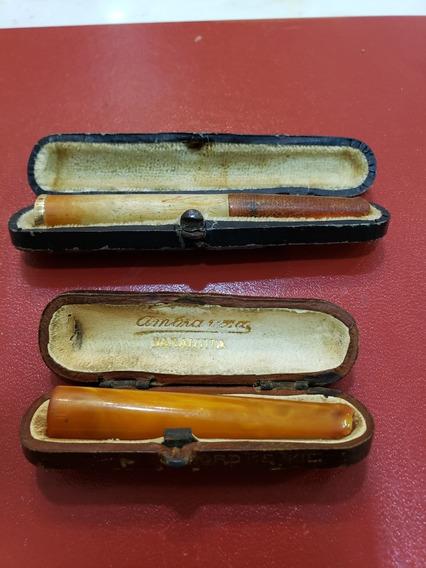 Boquillas Para Cigarrillos Antiguas Con Oro 18k