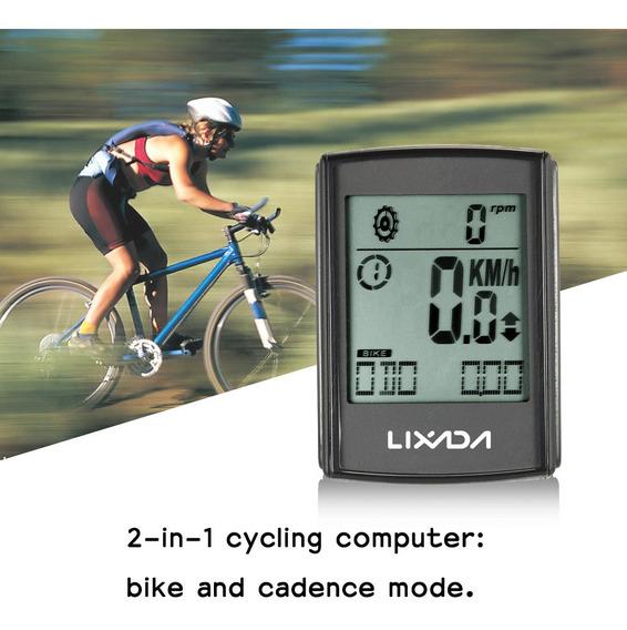 Lixada Multifuncional 2 En 1 Lcd Inalámbrico Bicicleta Cicli
