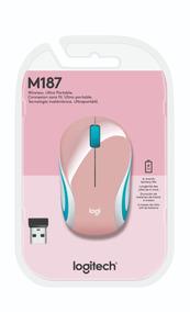 Logitech Mouse M187 Wireless Mini Mouse Refresh Pink