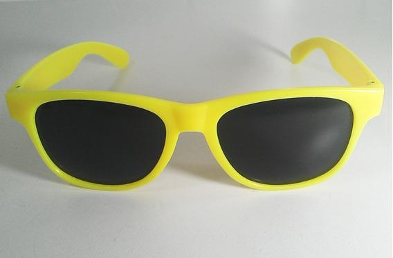 Óculos De Sol Proteção Uv400 Armação Colorida Amarela