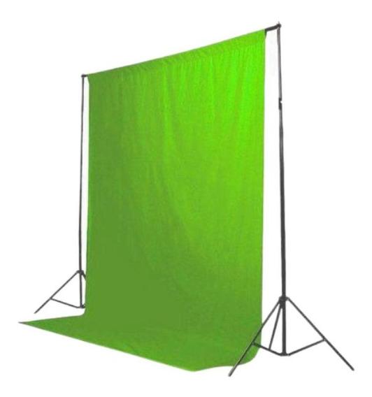 Tecido 3x7 Verde Estudio Fundo Infinito Chroma Key Youtubers