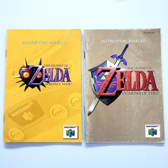 Manual Zelda Ocarina Of Time E Majoras N64 Frete Grátis