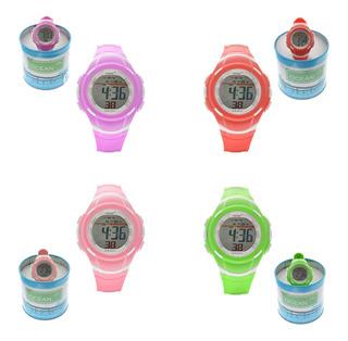 Reloj Mujer Ocean Dr. Deportivo Digital Sumergible Od01-014