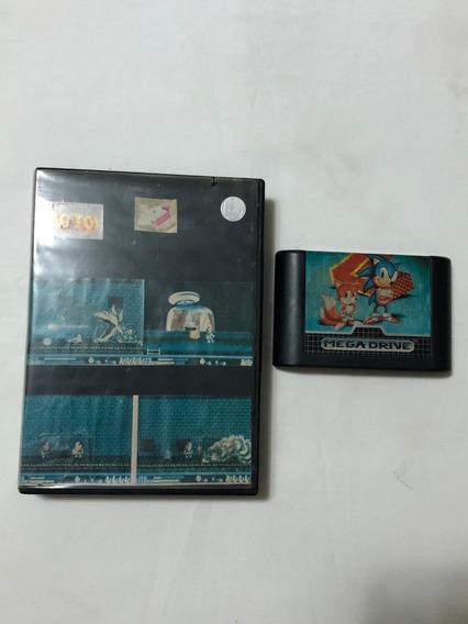 Mega Drive : Sonic 2 Label Original Tectoy C Cx De Locadora
