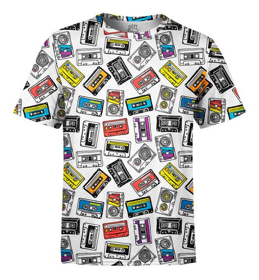 Camiseta Masculina Fitas Cassete K7 Estampa Digital