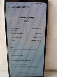 Samsung Galaxy A9 2018 6 Gb De Ram Liberado Sin Fallas