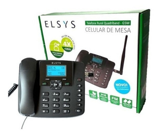 Telefone Celular Rural De Mesa Quadriband - Gsm Elsys