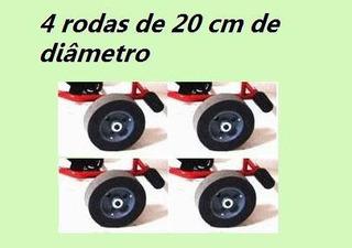 4 Rodinhas Roda Para Pedal Kart Quadriciclo Al-156 Altmayer