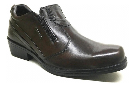 Bota Country Masculina Couro Zíper Lateral Faccos Marrom