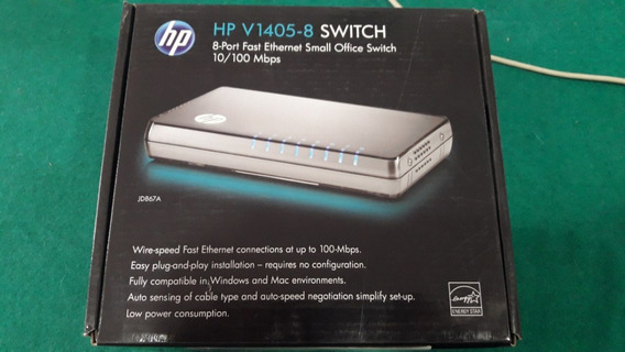 Switch Hp V1405-8 10/100mbps 8 Port Fast Ethernet Small