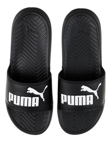 Chinelas Puma Pop Cat Neg/bla Unisex
