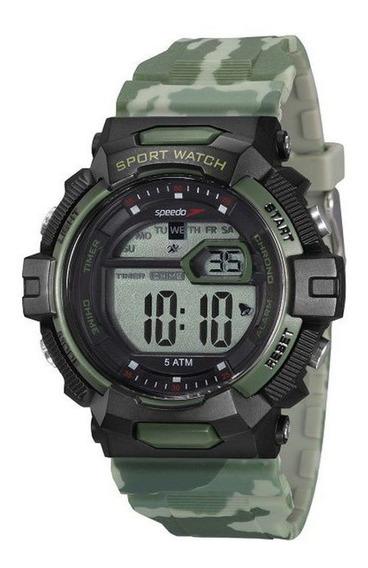 Relógio Masculino Speedo Camuflado E Preto Digital + Nf