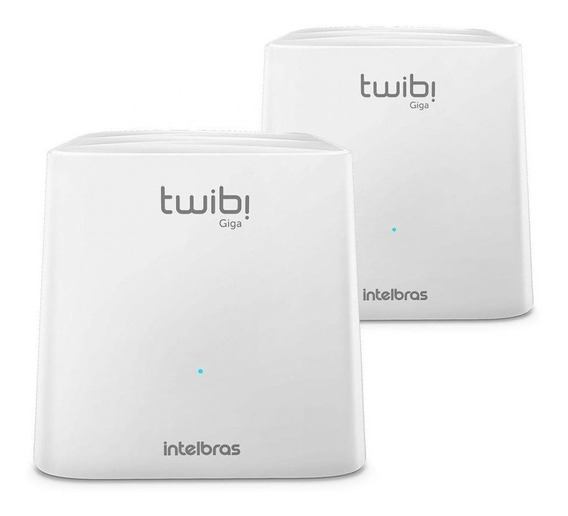 Roteador Sistema Wi-fi Mesh Intelbras Twibi Giga Pack 2 Un