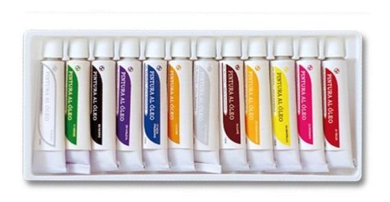 Pinturas Al Oleo Sabonis Estuche Con 12 Colores