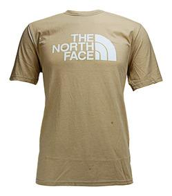 Playera The North Face M S/s Half Dome Brown Logo White