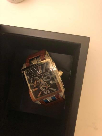 Relógio De Luxo Cerruti 1881 Pulseira De Couro