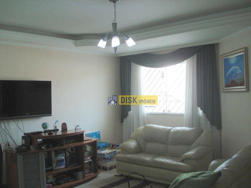 Imagem 1 de 18 de Sobrado Com 3 Dormitórios À Venda, 215 M² Por R$ 750.000 - Assunção - São Bernardo Do Campo/sp - So0693