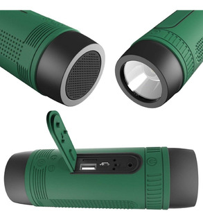 Parlante Portatil Bluetooth Radio Fm Linterna Led Power Bank