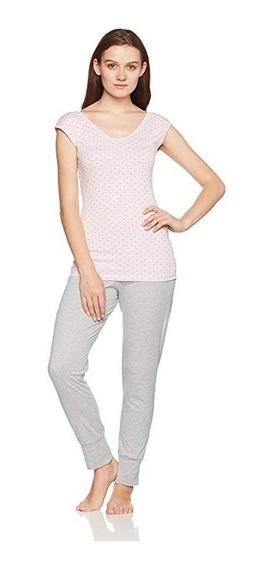 Pijama Pantalón Rosa/gris 4519 Vicky Form