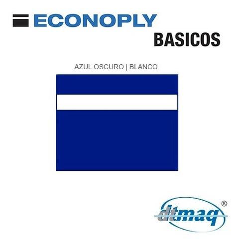 Plástico Bicapa Laserable Econoply Azul / Blanco 60x40cm