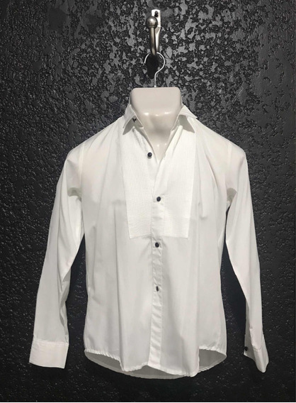 Camisa Blanca De Vestir Sencilla Para Frack. Talla 18. Usada