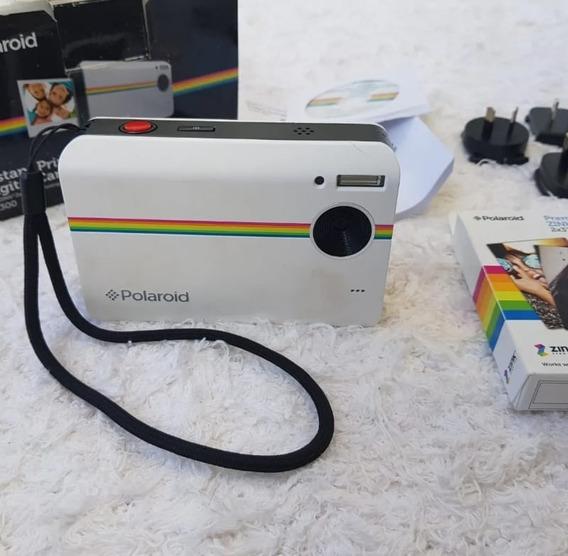 Camera Polaroid Z2300 Com 200 Folhas De Papel Adesivas