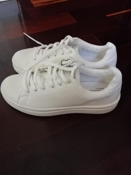 Zapatillas Hombre Blancas Talle 44