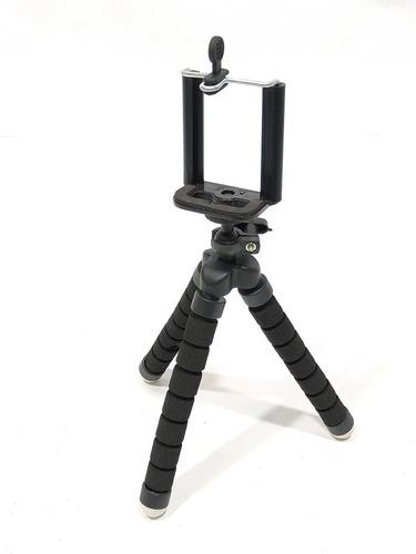Tripode Pulpo 17cm Gopro Celular Con Cabezal Incluido Negro