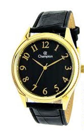 Relógio Champion Couro Masculino 50 Metros