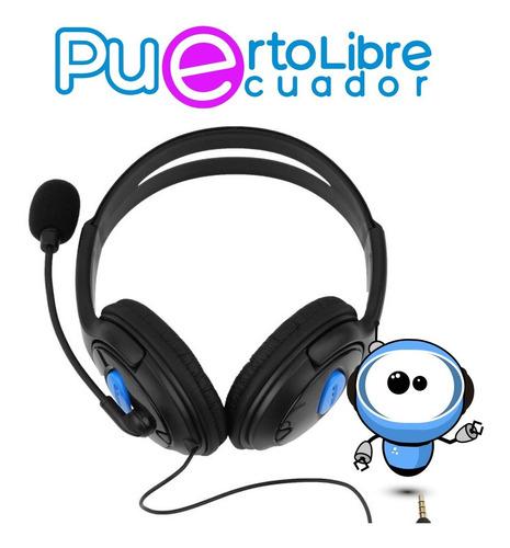 Imagen 1 de 10 de Potentes Audifonos Gamer Ps4 Pc Laptop Celular + Microfono