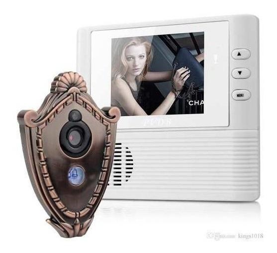 Olho Mágico Digital Lcd Visao Noturno Grava Video E Audio Nf