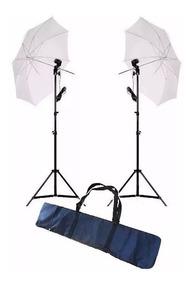 Kit Para Iluminação E27 + 2 Tripes 2m + 2 Sombrinhas +bag