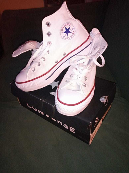 Converse Chuck Taylor All Star Platform Blancas Talle 37