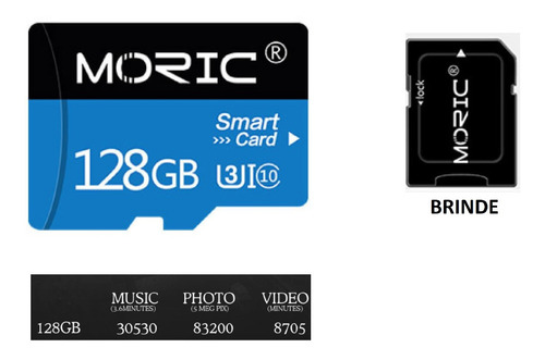 Sd 128 Gb Moric Para Smartfone Android / Cameca Fotografica