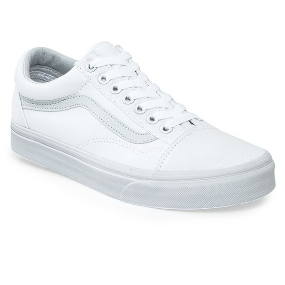 Zapatillas Vans Mod Old Skool Toda Blanca!!! 100% Original!!