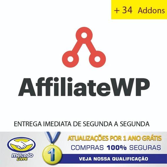 Affiliatewp + Bônus 34 Addons + Licença