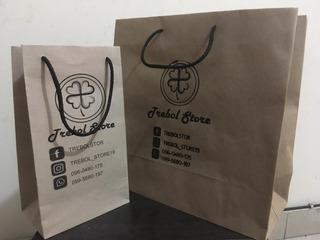 Bolsas Y Shopping Bag De Papel Kraft Para Tiendas Online!!!