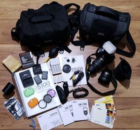 Camera Nikon 5100 Completo C/os Acessórios Da Foto!