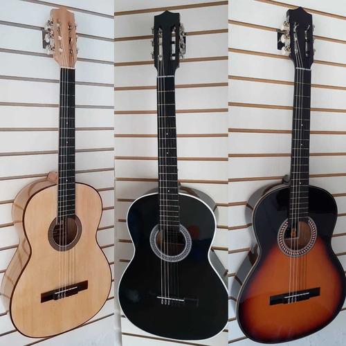 Guitarra Clásica+forro Lona+método De Aprendizaje+pick+envío