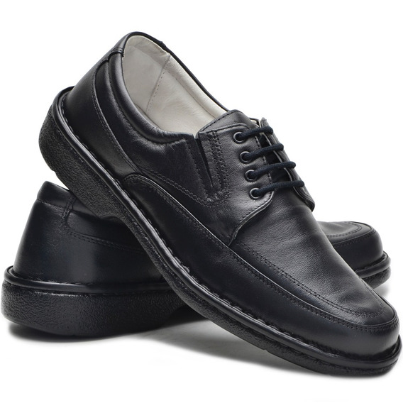 Sapato Anti Stress Masculino Cadarço Conforto Promoção