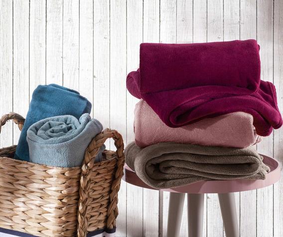 Manta Home Design Microfibra Cobertor Solteiro Super Macio
