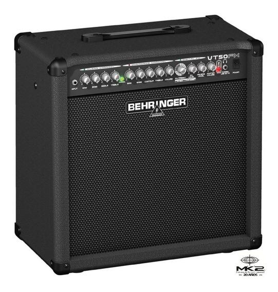 Amplificador Guitarra Behringer Virtube Vt50fx 60w 2 Ch 6pag