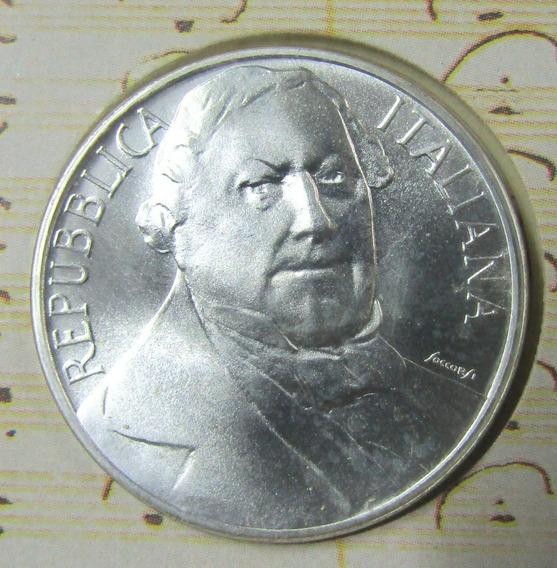 Italia 500 Liras 1992 Plata Bicentenario Gioacchino Rossini