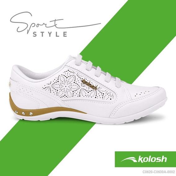 Tenis Casual Feminino Kolosh C0630a Original Com Strass Ppm
