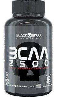 Bcaa 2500 60 Caps- Black Skull - Importado Original