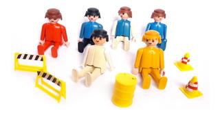 Lote 6 Muñecos Y Accesorios Original Playmobil 1974