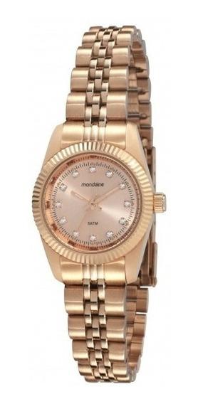 Relógio Feminino Mondaine Rosê 94086lpmtrs4 Visor Cristais