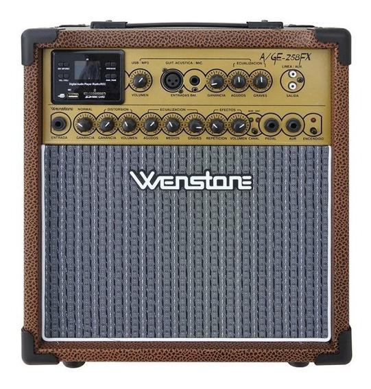 Amplificador Guitarra Electrica/acustica Wenstone A/ge-258fx