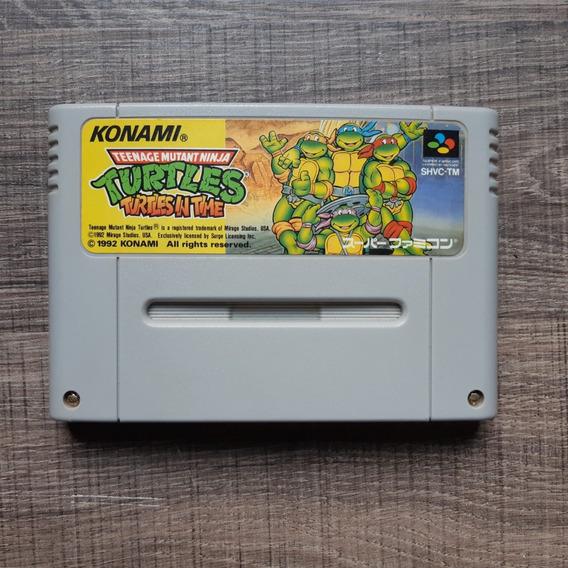 Turtles In Time Original Japonesa Super Famicom Rara Reff255