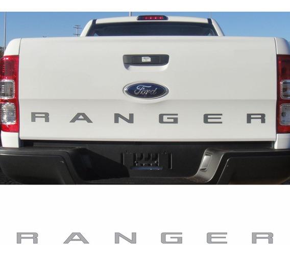 Adesivo Letreiro Tampa Traseira Cinza Ford Ranger 2013 Rgr1